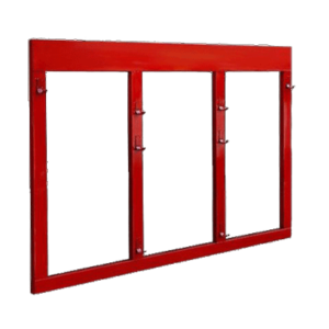 Щит пожарный металлический открытого типа